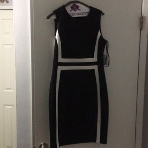 Calvin Klein black and white dress new with tags